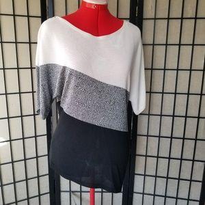 White House Black Market Tops - WHBM Asymmetrical Flowy Polyester/Nylon Top   Smal